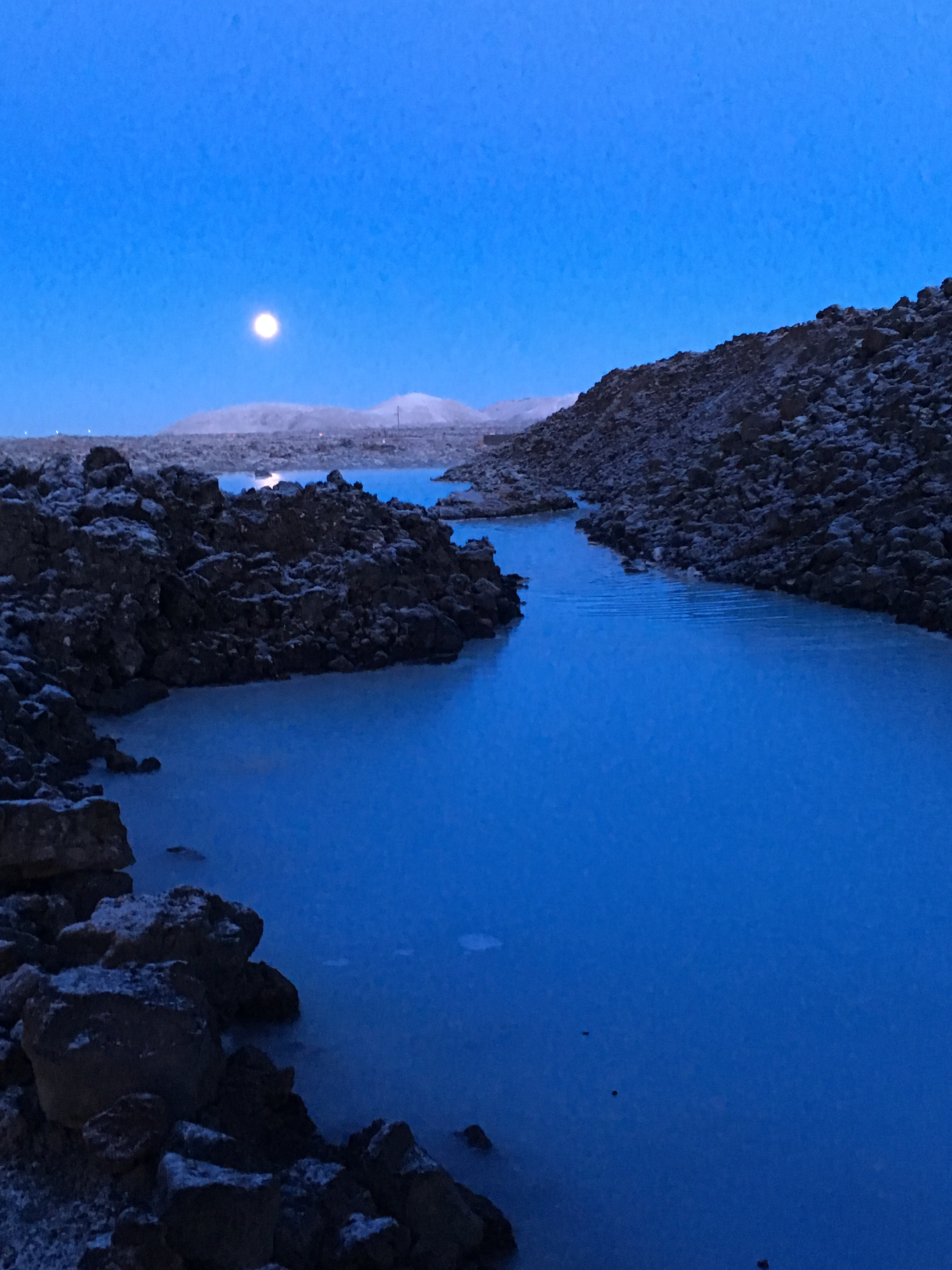 The Blue Lagoon at night