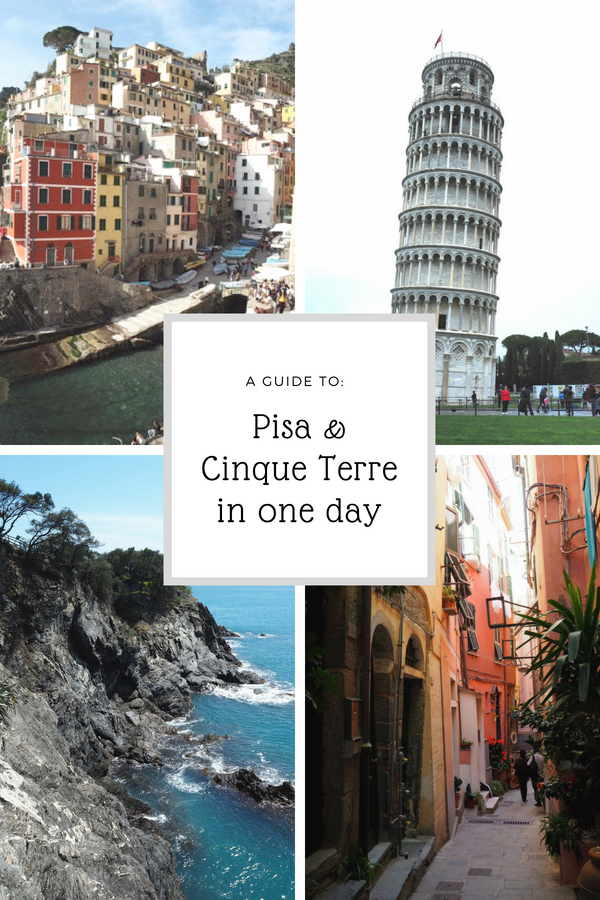 A step-by-step guide to visiting Pisa and Cinque Terre in one day. You'll have time to gaze at the Leaning Tower of Pisa and soak up the atmosphere in beautiful Cinque Terre. #Cinqueterre #Pisa #daytrip #Italy