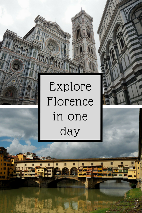 A guide on how to make the most of a day in Florence. Visit Santa Maria Novella, Cattedrale di Santa Maria del Fiore (the cathedral of Florence) and Ponte Vecchio. And eat the best sandwich in Florence on the way. So, go on, take a look and see how you best explore Florence in one day #florenceinaday #florence #italy #florenceitinerary