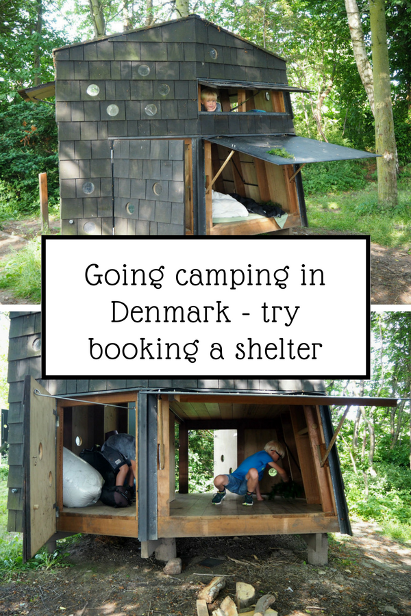 Going camping in Denmark - try booking a shelter with your kids
