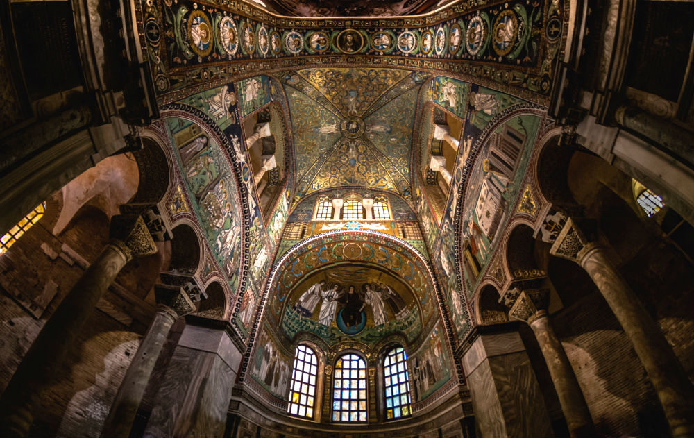 Basilica di San Vitale in Ravenna. One of the many things to see in Ravenna, Italy